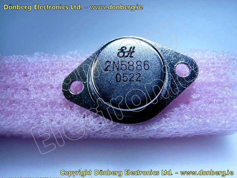 Semiconductor: 2N5886 (2N 5886) - TRANSISTOR SILICON NPN / 80V / 25A /  200W>4MHz.